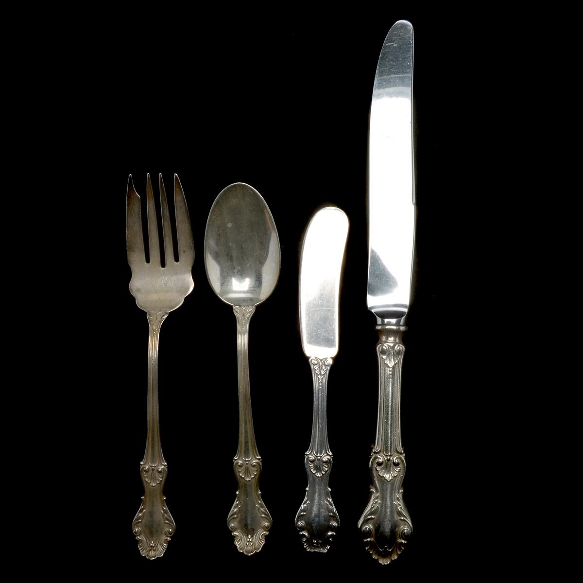 Kings II by J.E Caldwell Sterling Silver Regular Fork 6 34