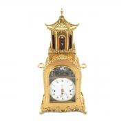 Chinese Gilt Bronze Automaton Musical Clock.