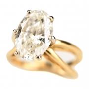 Diamond, 18k Gold Ring.