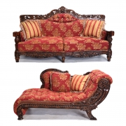 Chaise Lounge and Sofa Furniture Suite.