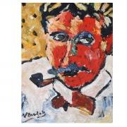 Style of Maurice de Valminick Portrait oil on board