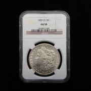 US 1889 CC Morgan Dollar