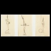 Fletcher Benton Graphite Studies, 1985 graphite on paper