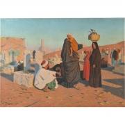 Painting, Ludwig Deutsch, Breaking the Fast