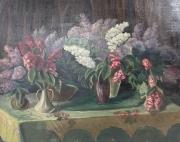Natalia Sergeevna Goncharova Bouquets of flowers,1960, oil on canvas